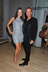 JULIEN MACDONALD and MARIA HATZISTEFANIS at the 2012 Rodial Beautiful Awards held at The Sanderson Hotel, Berners Street, London on 6th March 2012.