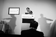 CEO of Credit Suisse, Brady Dougan during a press conference in the bank's offices to anounce annual results.