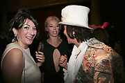Ghislaine Maxwell, Tamara Beckwith and Andy Wong, Andy and Patti Wong's Chinese New Year of the Pig party. Madame Tussauds. ( Dress Burlesque, Debauched or Hollywood Black Tie. ) London. 27 January 2007.  -DO NOT ARCHIVE-© Copyright Photograph by Dafydd Jones. 248 Clapham Rd. London SW9 0PZ. Tel 0207 820 0771. www.dafjones.com.