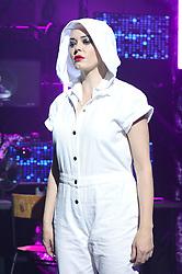 Rose McGowan backstage during the Nichola Kirkwood London Fashion Week SS19 show held at Ambika P3, London.