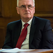 Speaker John McDonnell - A rally is held at Convocation Hall, Westminster in support of Julian Assange. Belmarsh Tribunal will expose the atrocities committed by the US government over the past decade, from war crimes in Iraq to torture at Guantánamo Bay. The event takes its inspiration from the Russell-Sartre Tribunal of 1966, when representatives of 18 countries gathered to hold the United States accountable for its war crimes in Vietnam, in the absence of an international authority that dared to do so. Tariq Ali, who took part in the 1966 Tribunal.
