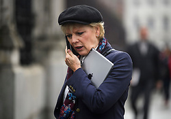 © Licensed to London News Pictures. 15/11/2018. London, UK. Conservative MP and Remain campaigner ANNA SOUBRY is seen during a radio interview in Westminster the day after Cabinet agreed to back Prime Minister Theresa May's deal on Brexit. Photo credit: Ben Cawthra/LNP