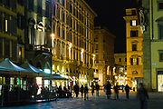 Night time street scene, October 2007, Florence, Italy