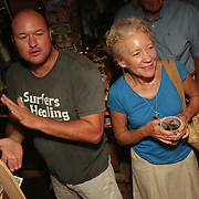 People dance Thursday August 7, 2014 during The Shrip-A-Roo at Buddy's Crab House & Oyster Bar in Wrightsville Beach, N.C.  (Jason A. Frizzelle)