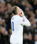 England's Wayne Rooney celebrates scoring his sides opening goal<br /> <br /> - International European Qualifier - England vs Slovenia- Wembley Stadium - London - England - 15th November 2014  - Picture David Klein/Sportimage