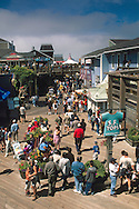 Tourists and shops at Pier 39, San Francisco, California