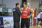 Sassari 14 Agosto 2012 - Qualificazioni Eurobasket 2013 -Allenamento<br /> Nella Foto : SIMONE PIANIGIANI ANDREA CINCIARINI<br /> Foto Ciamillo