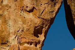 Sandstone Detail near Pine Tree Arch, Arches National Park, Utah, US