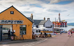 Sutor  Creek Cafe and Royal Hotel in Cromarty village on Black Isle on Cromarty Firth, Ross and Cromarty, Scotland, UK