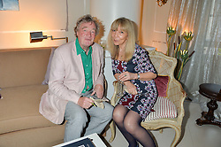 RICHARD SYKES and PENELOPE TREE at a party to celebrate the publication of 'A Girl From Oz' by Lyndall Hobbs held at Flat 1, 165 Cromwell Road, London on 12th May 2016.