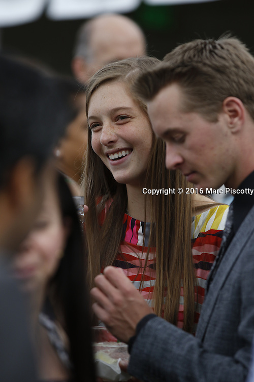 SHOT 6/1/16 5:35:00 PM - Colorado Academy Senior Class portrait in front of the Wellborn House and Class of 2016 Commencement Dinner at the Denver, Co. private school. (Photo by Marc Piscotty / © 2016)