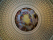 A view of the interior of the United States Capitol Dome and its artwork; Washington, DC