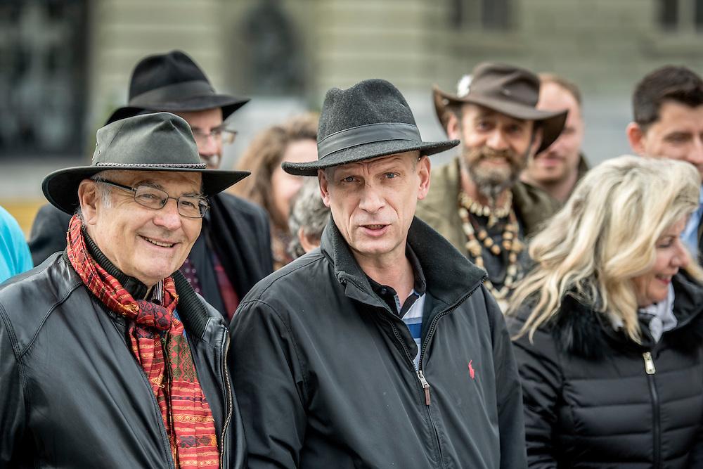 Die Radgenossenschaft der Jenischen reicht eine Petition zur Einforderung von Minderheitenrechten ein. Mit dabei: Daniel Huber, Praesident Radgenossenschaft. © Adrian Moser