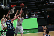 Basketball: Deutschland, 1. Bundesliga, Hamburg Towers -  Alba Berlin, Hamburg, 23.03.2021<br /> Luke Sikma (Alba, l.) - Patrick Hollatz (Towers)<br /> © Torsten Helmke