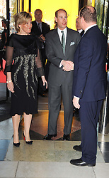 TRH the EARL & COUNTESS OF WESSEX greeted by His Serene Highness PRINCE ALBERT OF MONACO  at the opening of the Victoria & Albert Museum's latest exhibition 'Grace Kelly: Style Icon' opened by His Serene Highness Prince Albert of Monaco at the V&A on 15th April 2010.