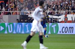 03-03-2007 VOETBAL: SEVILLA FC - BARCELONA: SEVILLA  <br /> Sevilla wint de topper met Barcelona met 2-1 / Puyol - boarding unibet.com<br /> ©2006-WWW.FOTOHOOGENDOORN.NL