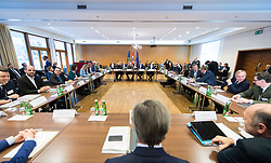 10.01.2019, Hotel Schlosspark, Mauerbach, AUT, Bundesregierung, Tour de Table vor der Arbeitsitzung anlässlich der Regierungsklausur 2019, im Bild Übersicht // Ovierview during convention of the Austrian government at Mauerbach in Lower Austria, Austria on 2019/01/10 EXPA Pictures © 2019, PhotoCredit: EXPA/ Michael Gruber