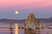 Rising November Full Moon over Mono Lake, Mono Basin National Forest Scenic Area, CA