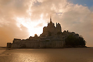 Mont Saint-Michel at sunset - Brittany - France