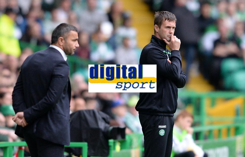 29/07/15 UEFA CHAMPIONS LEAGUE 3RD RND QUALIFIER 1ST LEG<br /> CELTIC v QARABAG FK<br /> CELTIC PARK - GLASGOW<br /> Celtic manager Ronny Deila