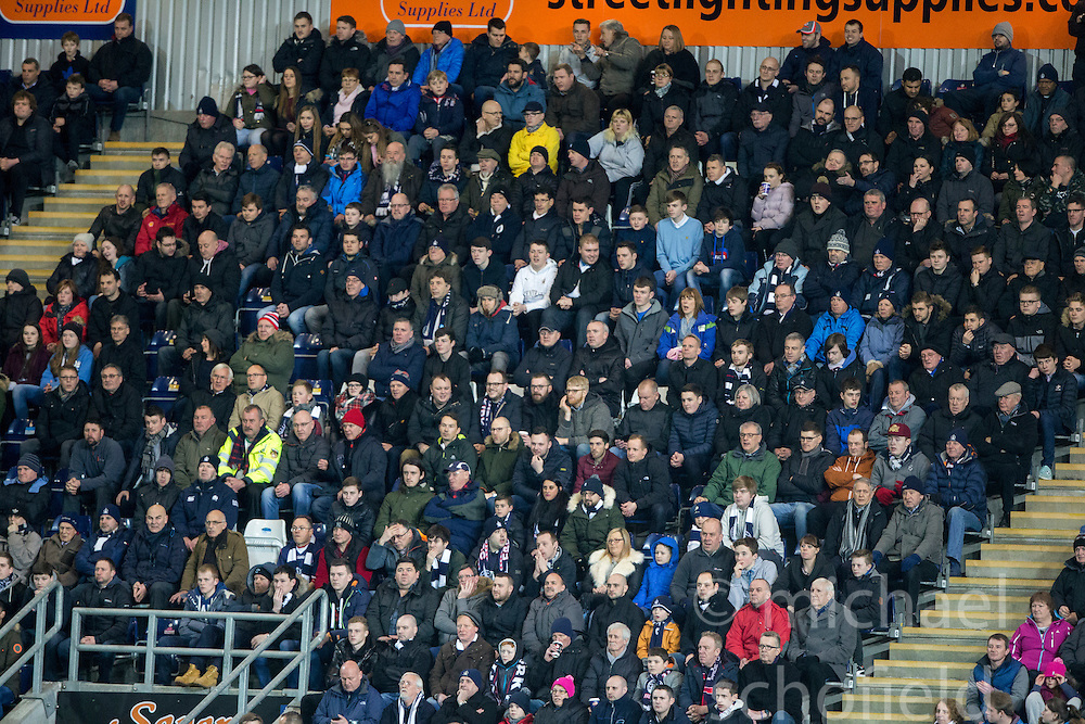 First half south stand. <br /> Falkirk 3 v 2 Rangers, Scottish Championship game player at The Falkirk Stadium, 18/3/2016.