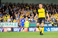 Burton Albion defender Jake Buxton (23) returns for his first game at the Pirelli stadium in eight years during the EFL Sky Bet Championship match between Burton Albion and Cardiff City at the Pirelli Stadium, Burton upon Trent, England on 5 August 2017. Photo by Richard Holmes.
