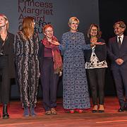 NLD/Amsterdam/20191002 - Laurentien bij ECF Princess Margriet Award for Culture, Prinses Laurentien met de Laureaten 2019 ECF Princess Margriet Award for Culture are Ahdaf Soueif (Cairo/London) & City of Women (Ljubljana).