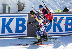 Martin Fourcade (FRA) and Anton Shipulin (RUS)  during Men 15 km Mass Start at day 4 of IBU Biathlon World Cup 2015/16 Pokljuka, on December 20, 2015 in Rudno polje, Pokljuka, Slovenia. Photo by Vid Ponikvar / Sportida