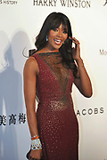 HONG KONG - MARCH 14:  Naomi Campbell arrives on the red carpet during the 2015 amfAR Hong Kong gala at Shaw Studios on March 14, 2015 in Hong Kong. Photo : Lucas Schifres/Abaca  (Photo by Lucas Schifres/Lucas Schifres)