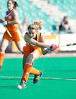 ROTTERDAM - HOCKEY - Ellen Hoog tijdens de Oefenwedstrijd tussen de vrouwen van Nederland en Duitsland (10-2) ter voorbereiding voor de HWL, volgende week. COPYRIGHT KOEN SUYK