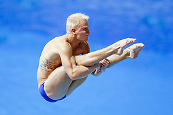 Jesper Tolvers of Sweden in action in the Mens 3m Springboard - Photo mandatory by-line: Rogan Thomson/JMP - 07966 386802 - 21/08/2014 - SPORT - DIVING - Berlin, Germany - SSE im Europa-Sportpark - 32nd LEN European Swimming Championships 2014 - Day 9.