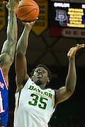 WACO, TX - JANUARY 7: Johnathan Motley #35 of the Baylor Bears drives to the basket against the Kansas Jayhawks on January 7, 2015 at the Ferrell Center in Waco, Texas.  (Photo by Cooper Neill/Getty Images) *** Local Caption *** Johnathan Motley