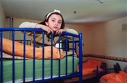 Albanian asylum seeker child in reception centre Leeds Yorkshire UK