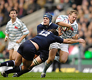 Twickenham. GREAT BRITAIN, Full back Hamish MURRAY, driving through, the tackles of left Jon O'CONNER and Dylan ALEXANDER,  during the 2006 Varsity Rugby Match at Twickenham Stadium, England 12.12.2006. [Photo, Peter Spurrier/Intersport-images] Sponsor, Lehman Brothers,