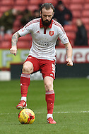 Sheffield United defender John Brayford during the Sky Bet League 1 match between Sheffield Utd and Port Vale at Bramall Lane, Sheffield, England on 20 February 2016. Photo by Ian Lyall.