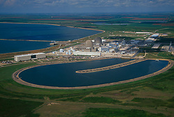 Aerial view of the South Texas Nuclear Generating Plant southwest of Bay City, Texas.