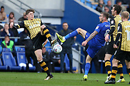 Joe Ralls of Cardiff city ® is challenged by Adam Reach of Sheffield Wednesday (l) .EFL Skybet championship match, Cardiff city v Sheffield Wednesday at the Cardiff City Stadium in Cardiff, South Wales on Saturday 16th September 2017.<br /> pic by Andrew Orchard, Andrew Orchard sports photography.