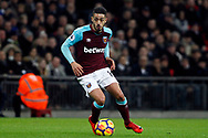 Manuel Lanzini of West Ham United in action. Premier league match, Tottenham Hotspur v West Ham United at Wembley Stadium in London on Thursday  4th January 2018.<br /> pic by Steffan Bowen, Andrew Orchard sports photography.
