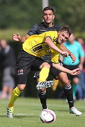 Nils Roseler of VVV Venlo, Efthymis Koulouris of PAOK during the friendly match between VVV-Venlo and PAOK Saloniki at Sportpark de Schuytgraaf on july 12, 2017 in Arnhem, The Netherlands