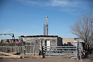 Feb 6,, 2020, Pecos Texas in the Permain Basin-- a drilling rig at a site that will be fracked.