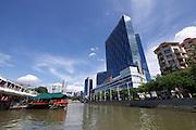 Singapore. Singapore River Cruise. Clarke Quay.