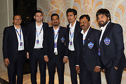 December 18, 2018 - Jaipur, Rajasthan, India - Delhi Capitals team officals along with Former Indian cricketer Mohammad Kaif (C) arrives for the Indian Premier League 2019 auction in Jaipur on December 18, 2018, as teams prepare their player rosters ahead of the upcoming Twenty20 cricket tournament next year. The 2019 edition of the IPL -- one of the world's most-watched sporting events attracting the world's top stars -- is set to take place in April and May next year.(Photo By Vishal Bhatnagar/NurPhoto) (Credit Image: © Vishal Bhatnagar/NurPhoto via ZUMA Press)