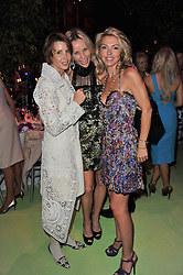 Left to right, VICTORIA, LADY DE ROTHSCHILD, SABINA McTAGGART and CARINE MAVROLEON at a dinner hosted by Cartier in celebration of the Chelsea Flower Show held at Battersea Power Station, 188 Kirtling Street, London SW8 on 23rd May 2011.