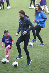 February 27, 2019 - Belfast, United Kingdom - Image licensed to i-Images Picture Agency. 27/02/2019. Belfast , United Kingdom. The Duke and Duchess of Cambridge at  the Irish Football Association at  Windsor Park in Belfast, Northern Ireland. (Credit Image: © Stephen Lock/i-Images via ZUMA Press)