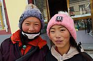 Tibetans in Hua Shi Xia village, Tibetan Plateau, Qinghai, China
