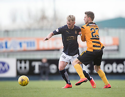 Falkirk's Craig Sibbald and Alloa Athletic's Mitchell Megginson. <br /> Falkirk 2 v 0 Alloa Athletic, Scottish Championship game played 5/3/2016 at The Falkirk Stadium.