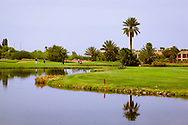 07-10-2015 -  Foto van Grote waterhindernissen bij PalmGolf Marrakech Palmeraie in Marrakech, Marokko. PalmGolf Marrakech Palmeraie was het eerste golfresort in Marokko. De 27-holes golfbaan  werd ontworpen door Robert Trent Jones Sr en valt onder het management van Troon Golf.