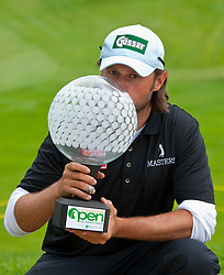 20.06.2010, AA Saint-Omer Golf Club, Saint Omer, FRA, Golf Open de Saint Omer, European Tour 2010, Day 4, im Bild Martin Wiegele (AUT) at the prize giving ceremony after winning  the European Tour. EXPA Pictures © 2010, PhotoCredit: EXPA/ Mitchell Gunn / SPORTIDA PHOTO AGENCY