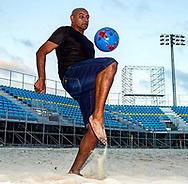 Former football star Emerson playing beach soccer