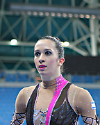 Neta Rivkin during final at clubs in Pesaro World Cup at Adriatic Arena on 28 April 2013. Neta was born on June 23, 1991 in Petah Tiqwa Israel. <br /> She is one of Israel's most successful rhythmic gymnasts.
